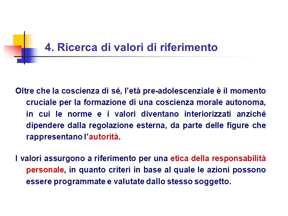 4. Ricerca di valori di riferimento