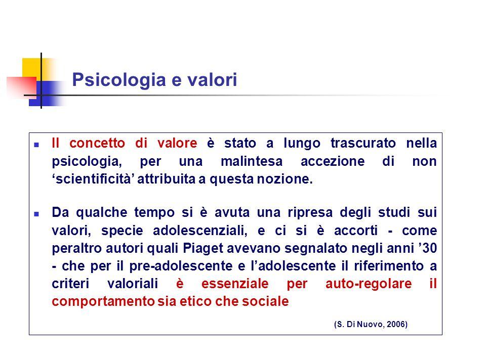 Psicologia e valori