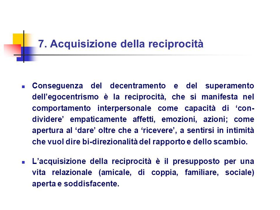 7. Acquisizione della reciprocità