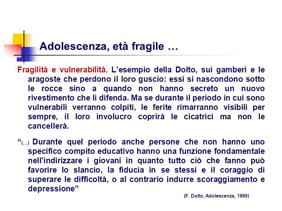 Adolescenza, età fragile …