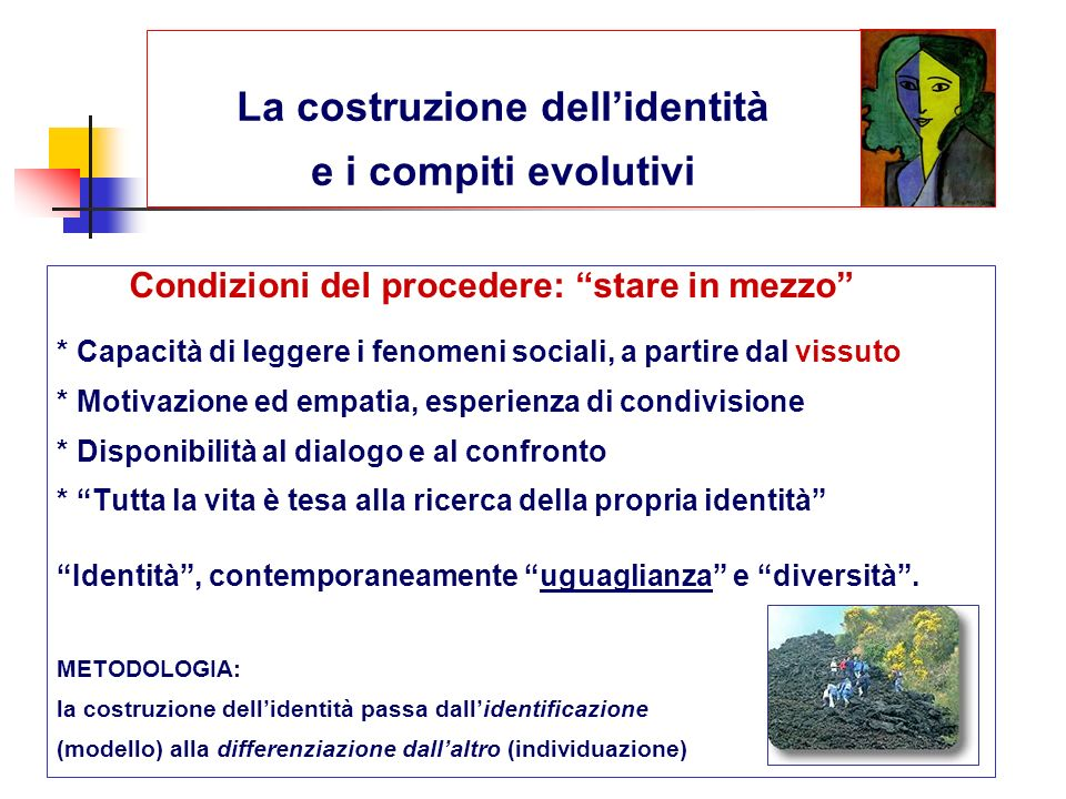 La costruzione dell'identità e i compiti evolutivi