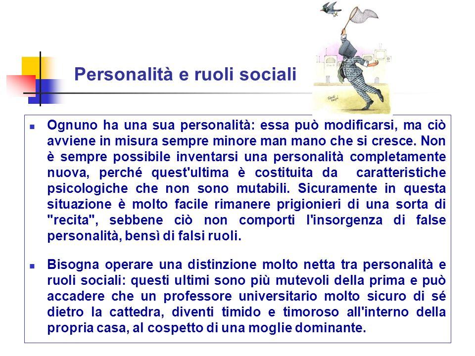 Personalità e ruoli sociali
