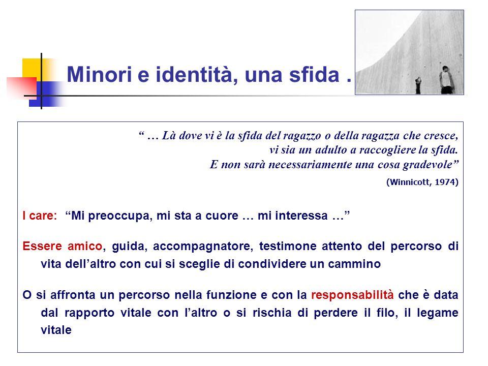 Minori e identità, una sfida …