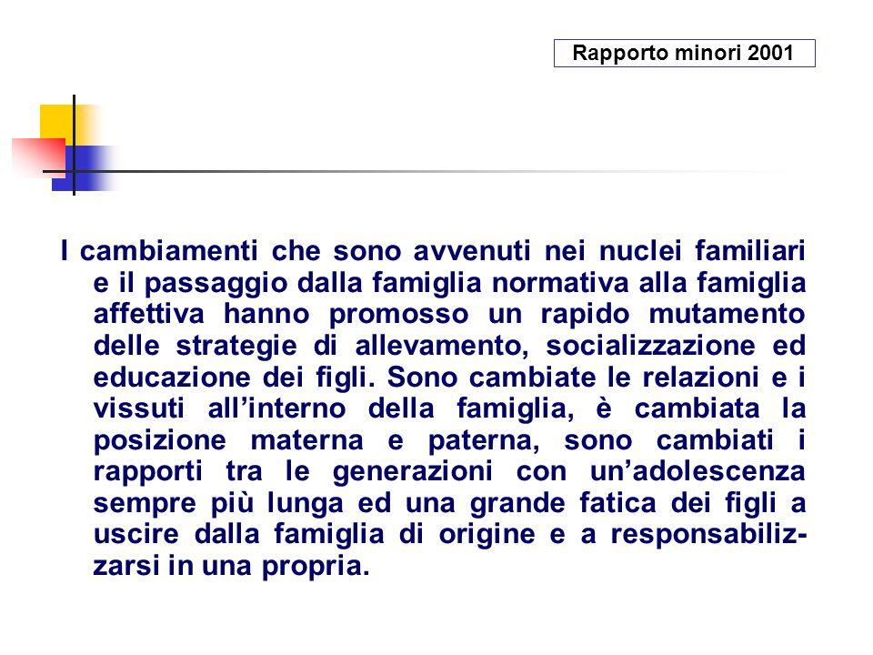 Rapporto minori 2001