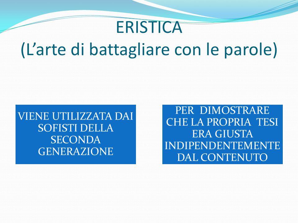 ERISTICA (L'arte di battagliare con le parole)