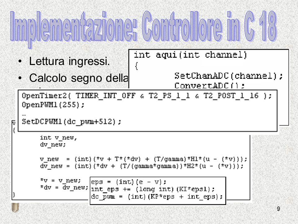Implementazione: Controllore in C 18