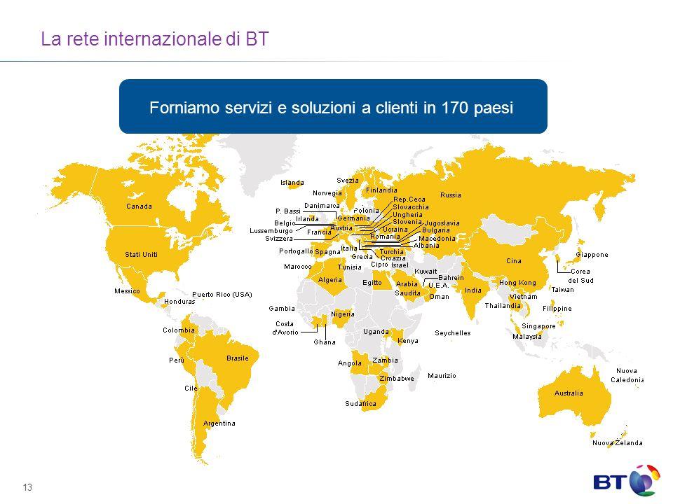 La rete internazionale di BT