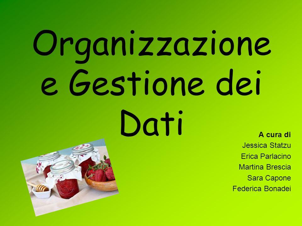 Organizzazione e Gestione dei Dati