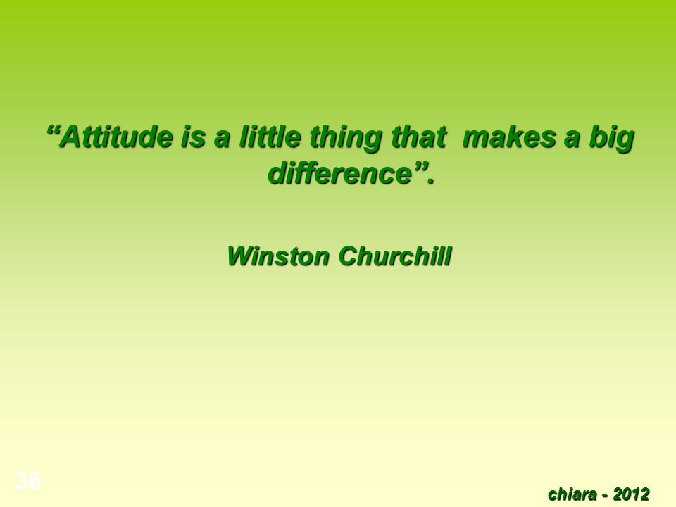 Attitude is a little thing that makes a big difference .