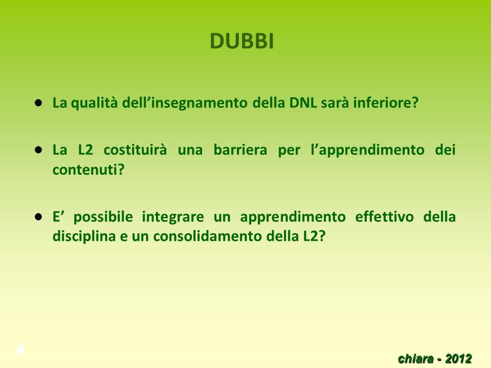 DUBBI La qualità dell'insegnamento della DNL sarà inferiore