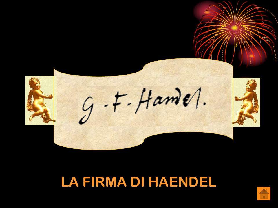 LA FIRMA DI HAENDEL