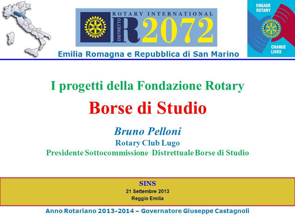Borse di Studio I progetti della Fondazione Rotary Bruno Pelloni
