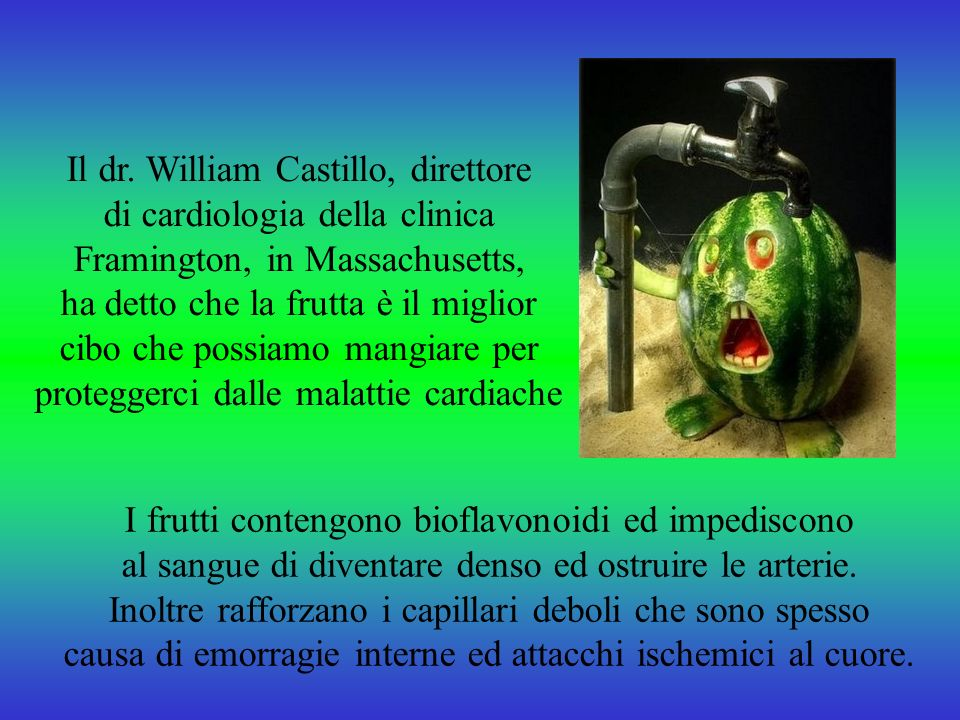 Il dr. William Castillo, direttore