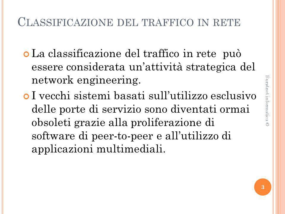 Classificazione del traffico in rete
