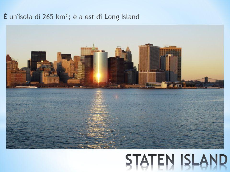 È un isola di 265 km²; è a est di Long Island