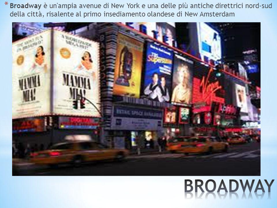Broadway è un ampia avenue di New York e una delle più antiche direttrici nord-sud della città, risalente al primo insediamento olandese di New Amsterdam