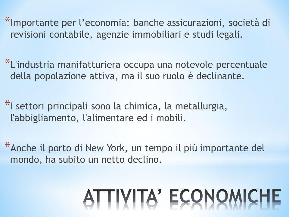 Importante per l'economia: banche assicurazioni, società di revisioni contabile, agenzie immobiliari e studi legali.