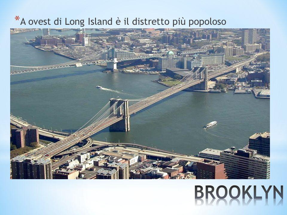 A ovest di Long Island è il distretto più popoloso