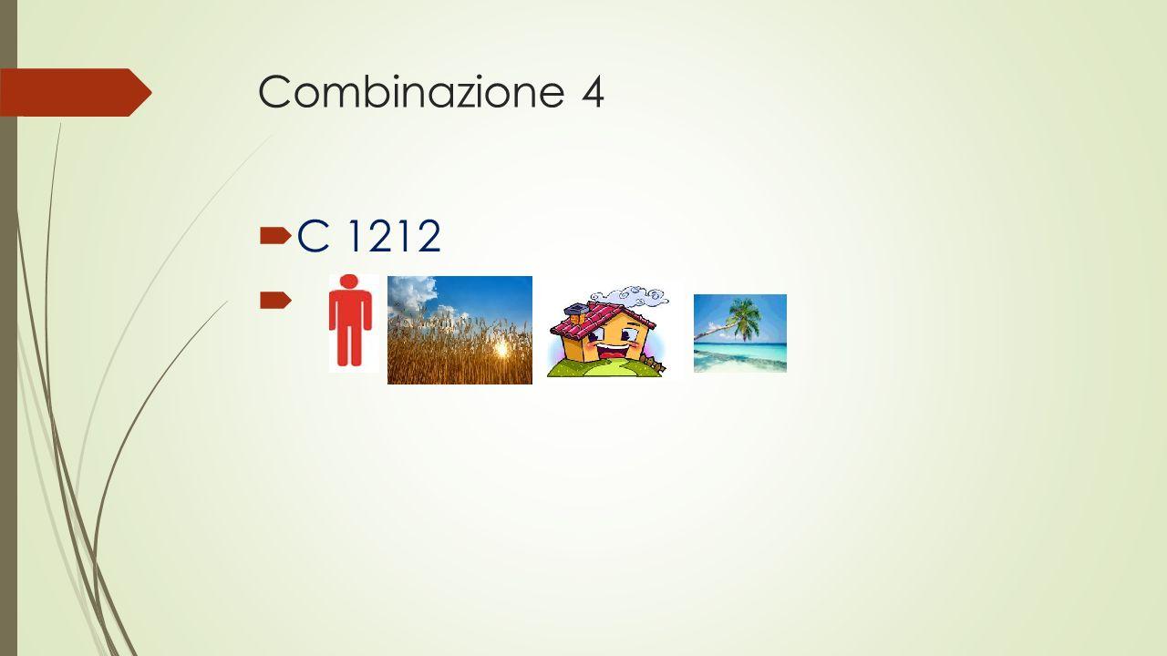 Combinazione 4 C 1212