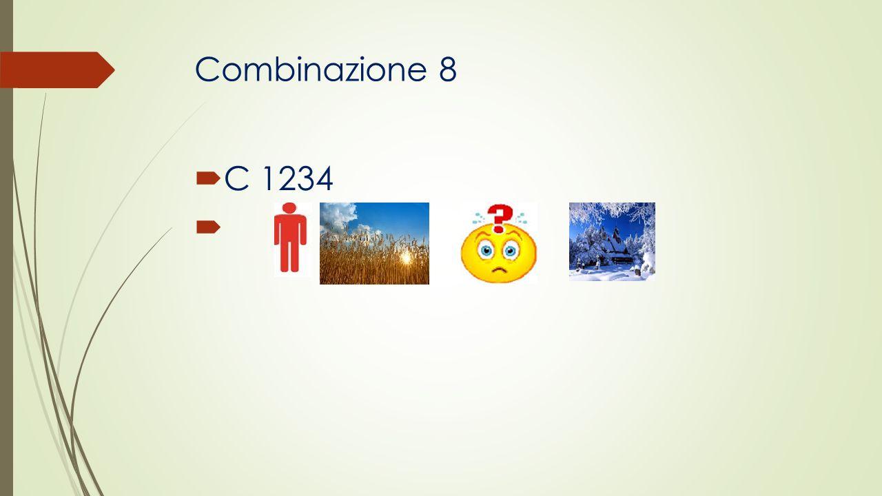 Combinazione 8 C 1234