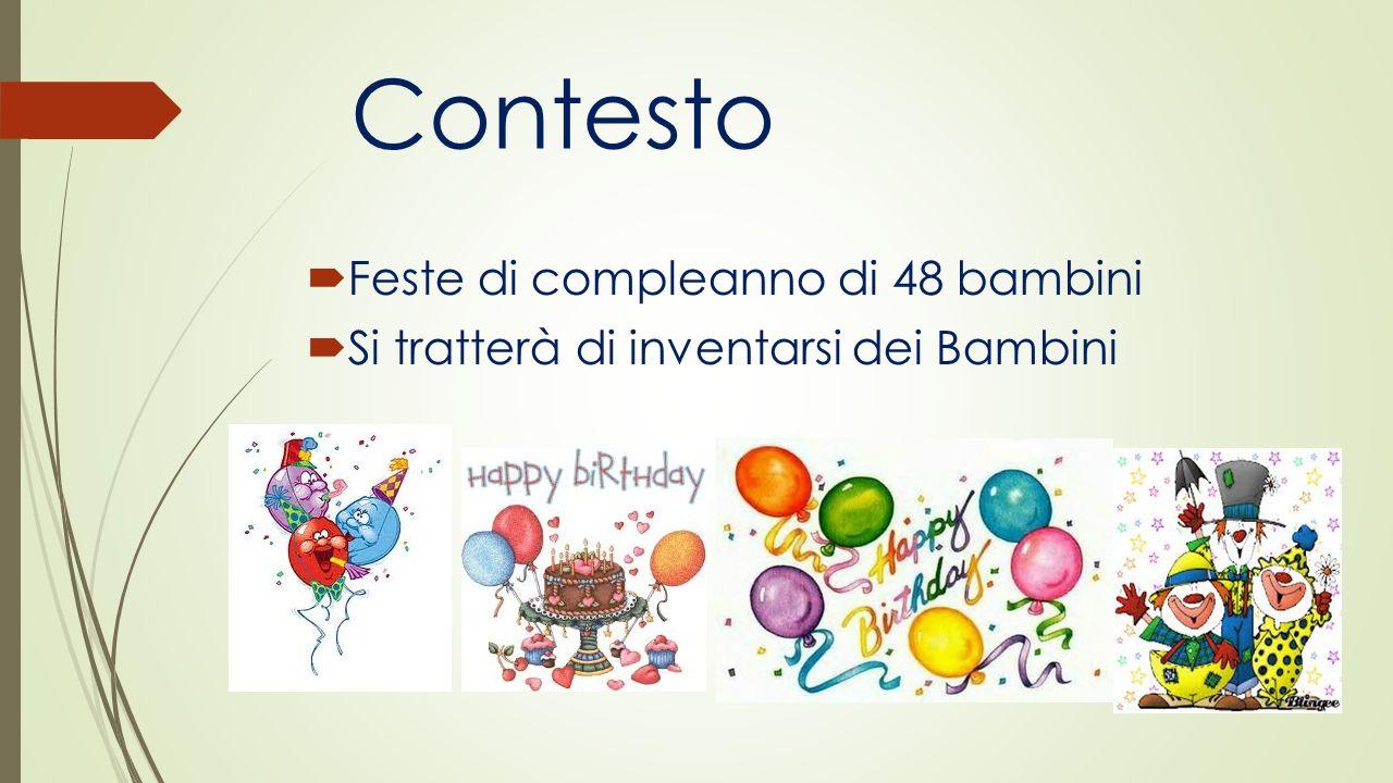 Contesto Feste di compleanno di 48 bambini