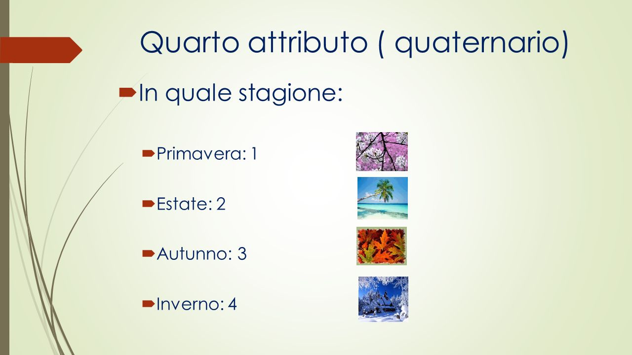 Quarto attributo ( quaternario)
