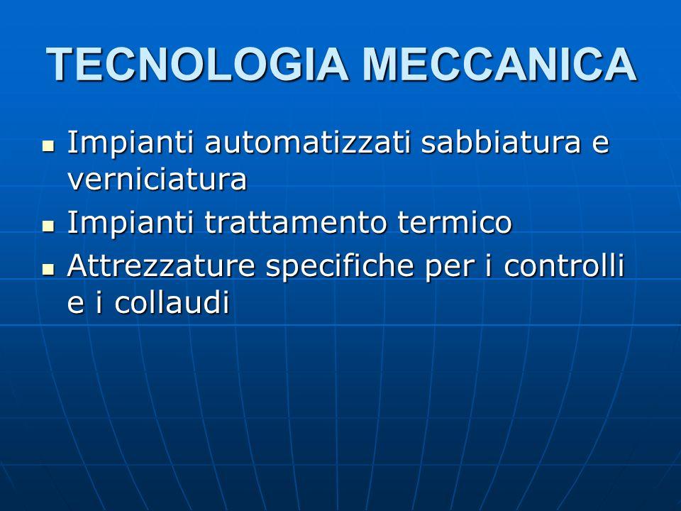 TECNOLOGIA MECCANICA Impianti automatizzati sabbiatura e verniciatura