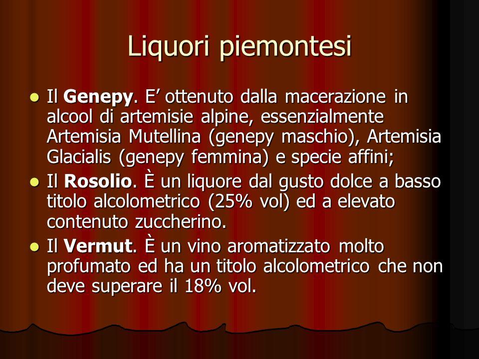 Liquori piemontesi