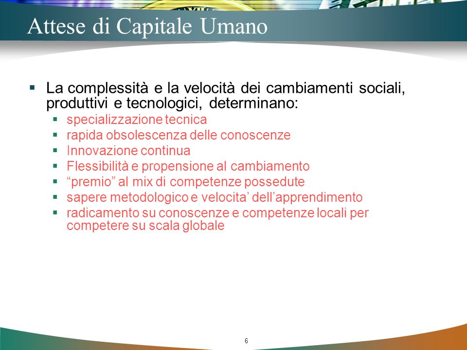 Attese di Capitale Umano