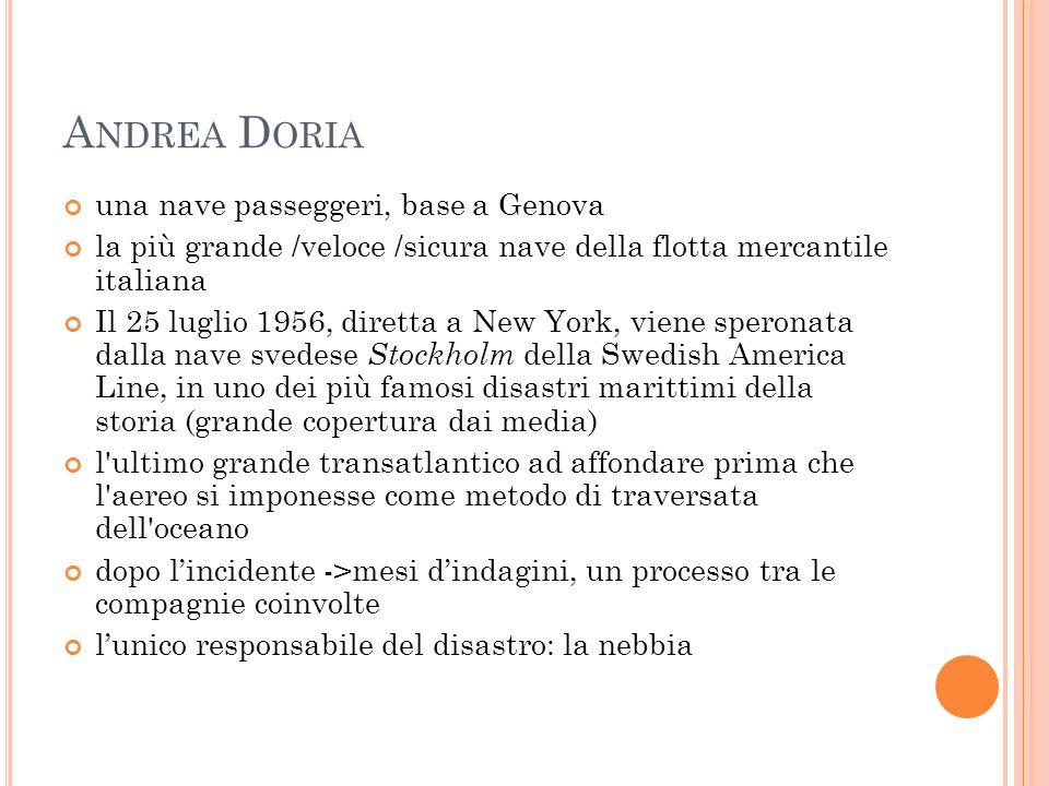 Andrea Doria una nave passeggeri, base a Genova