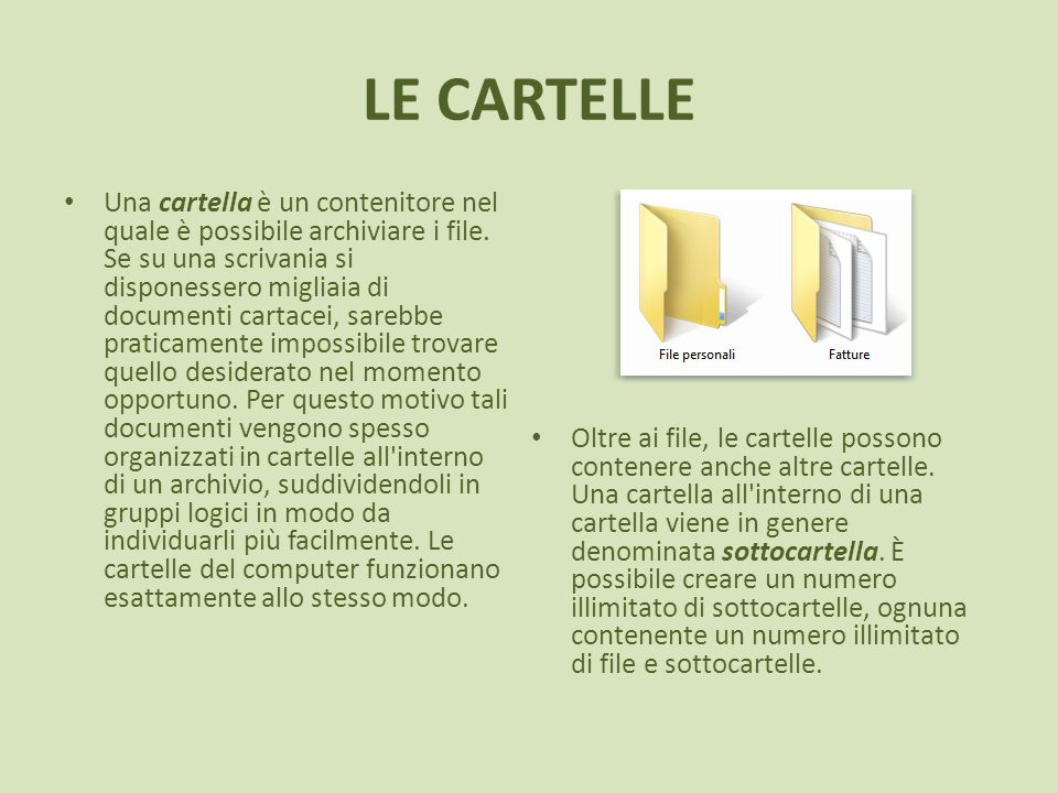 LE CARTELLE
