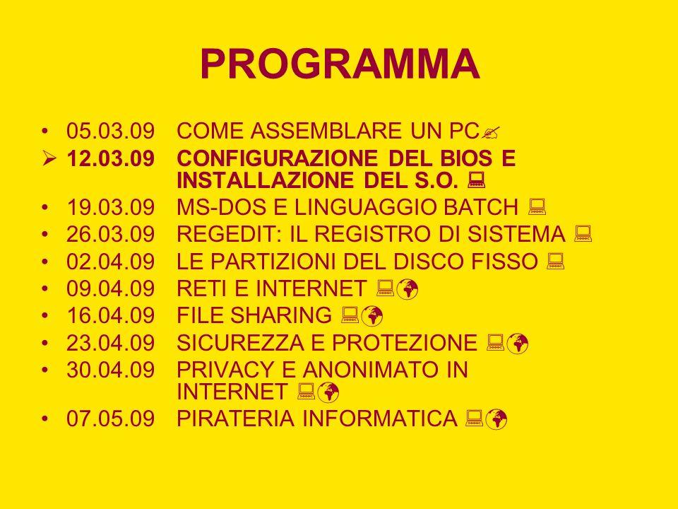 PROGRAMMA 05.03.09 COME ASSEMBLARE UN PC