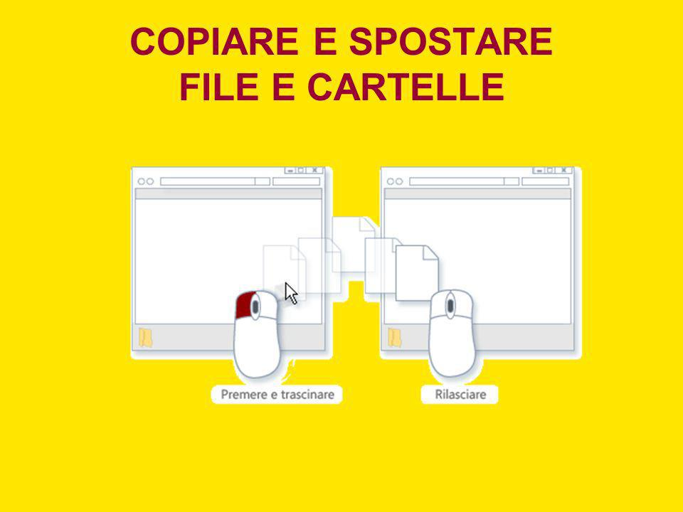 COPIARE E SPOSTARE FILE E CARTELLE