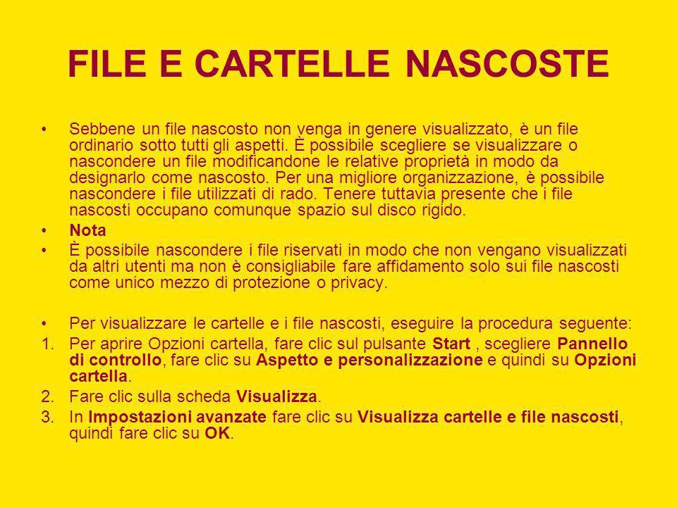 FILE E CARTELLE NASCOSTE