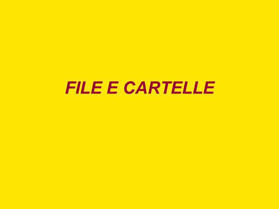 FILE E CARTELLE