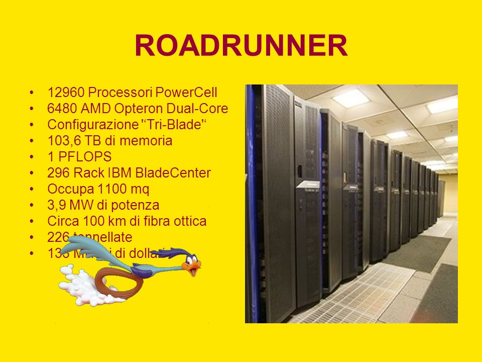 ROADRUNNER 12960 Processori PowerCell 6480 AMD Opteron Dual-Core