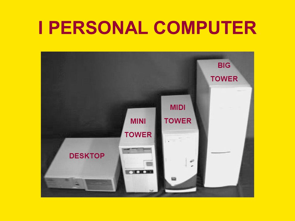 I PERSONAL COMPUTER BIG TOWER MIDI TOWER MINI TOWER DESKTOP