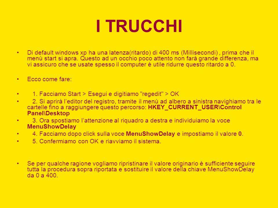 I TRUCCHI