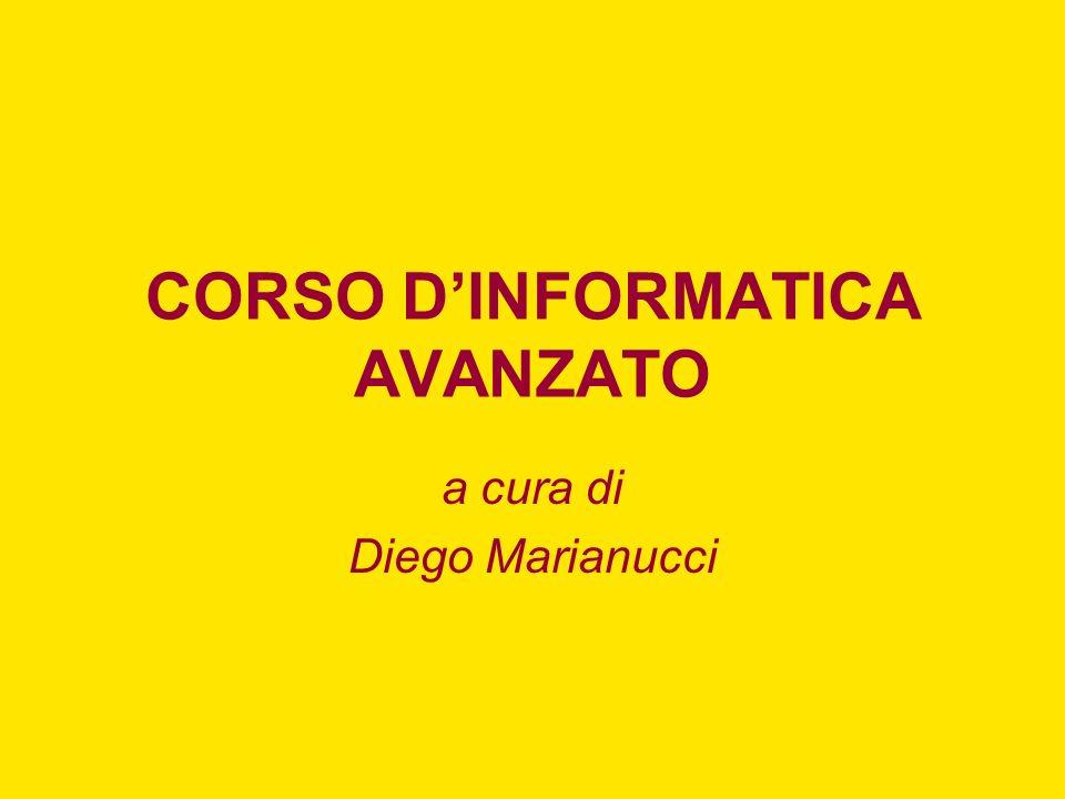 CORSO D'INFORMATICA AVANZATO