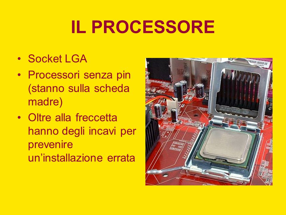 IL PROCESSORE Socket LGA