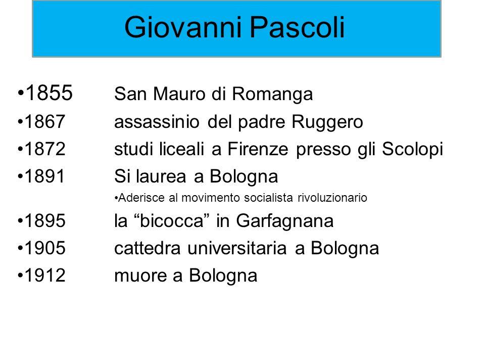 Giovanni Pascoli 1855 San Mauro di Romanga