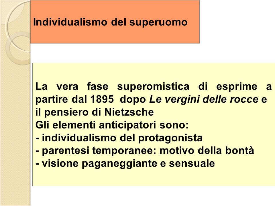 Individualismo del superuomo