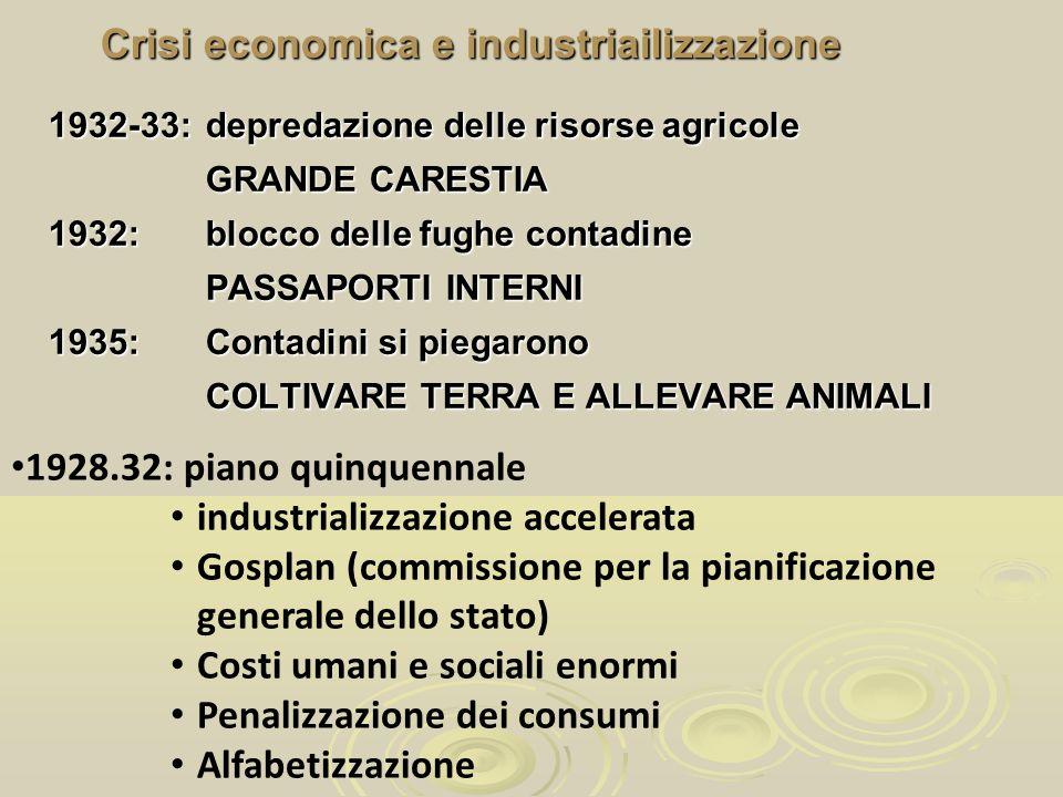Crisi economica e industriailizzazione