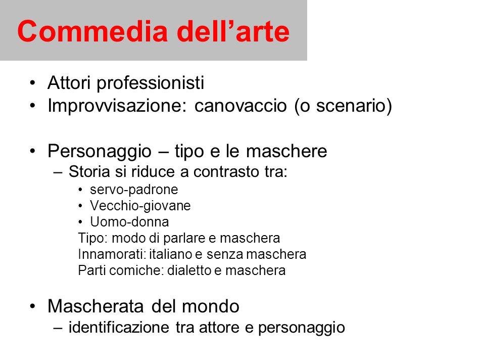 Commedia dell'arte Attori professionisti