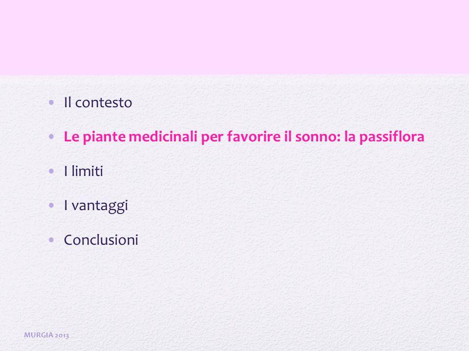 Le piante medicinali per favorire il sonno: la passiflora I limiti