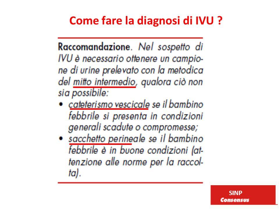 Come fare la diagnosi di IVU