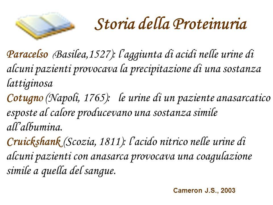 Storia della Proteinuria