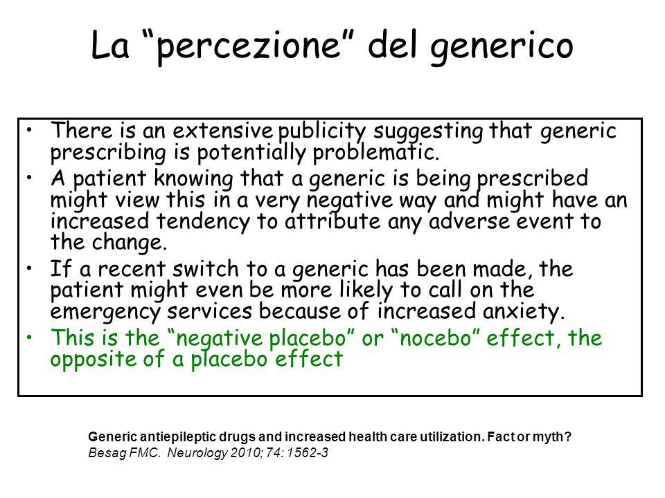 La percezione del generico