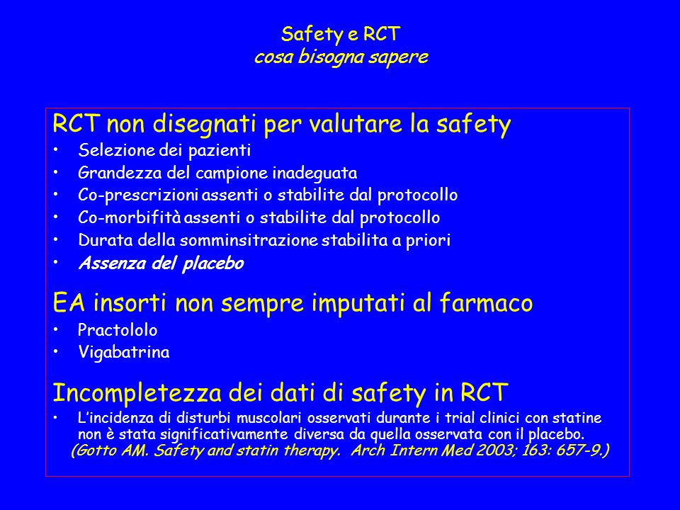 Safety e RCT cosa bisogna sapere