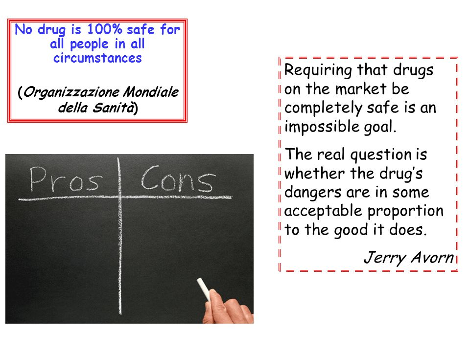 No drug is 100% safe for all people in all circumstances